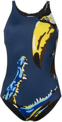 Krizia Vintage bird print swimsuit
