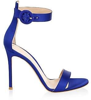 Gianvito Rossi Women's Portofino Ankle-Strap Satin Sandals