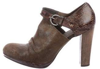 Henry Beguelin Distressed Suede Pumps