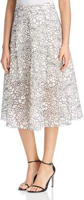 Three Dots Lace Midi Skirt
