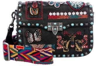 Valentino Medium Rockstud Rolling Beaded Bag