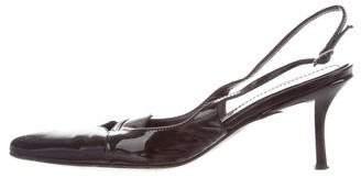 Casadei Patent Leather Slingback Pumps
