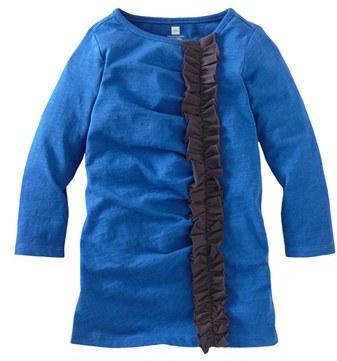 Tea Collection Ruffled Shift Dress (Toddler Girls)
