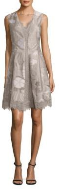 Elie Tahari Lola Lace Inset Dress $548 thestylecure.com