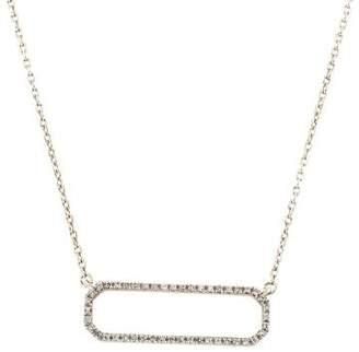 Monica Vinader Diamond Naida Rectangle Open Necklace