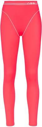 Adam Selman French cut high-waisted leggings