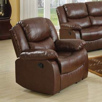 ACME Furniture Acme Fullerton Recliner, Brown Bonded Leather Match