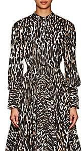Calvin Klein Women's Leopard-Print Silk Blouse - Leo Ivory Brown Black Beige
