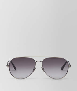Bottega Veneta SUNGLASSES IN SILVER METAL WITH GREY LENS