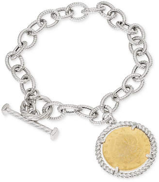 Giani Bernini Two-Tone Coin Charm Toggle Bracelet in Sterling Silver & 18k Gold-Plate