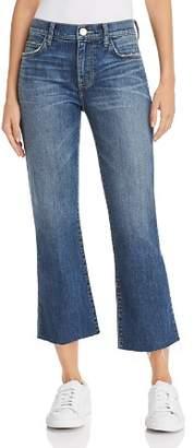 Current/Elliott The Kick Flare Raw-Edge Jeans in Sutfin