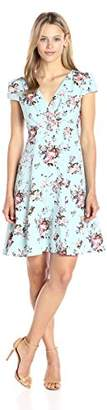 Betsey Johnson Women's Chiffon Crepe Fit & Flare Dress