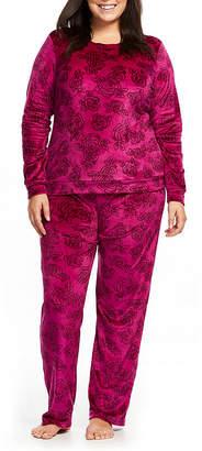 Gloria Vanderbilt Womens-Plus Pant Pajama Set 2-pc. Long Sleeve
