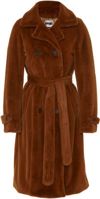 Apparis Nicole Double-Breasted Faux Fur Coat