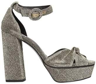 Bibi Lou Silver Lurex Fabric Blend Sandals