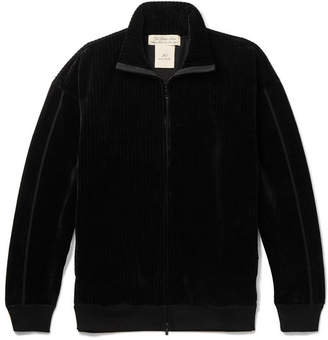 Remi Relief Ribbed Velour Zip-Up Track Jacket