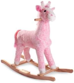 Trademark Global Happy Trails Penny the Pink Plush Rocking Giraffe