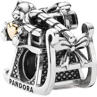 Pandora 14K & Silver Santa's Sleigh Charm