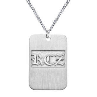 FINE JEWELRY Personalized Brushed Monogram Dog Tag Necklace