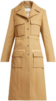 Patch-pocket cotton coat