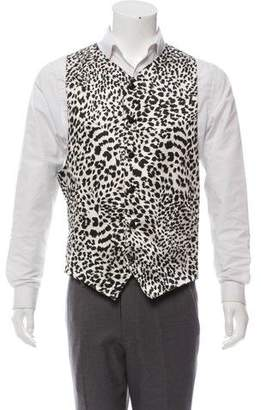 Gianni Versace Vintage Printed Suit Vest