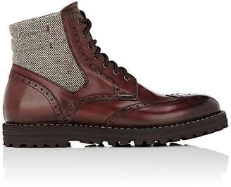 Franceschetti Men's Leather & Tweed Wingtip Boots