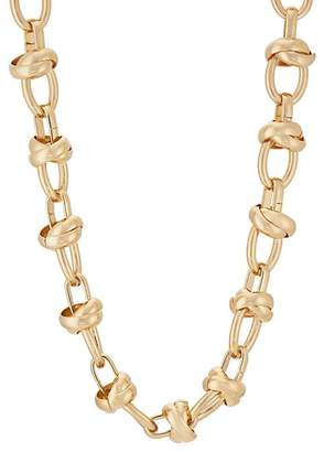 Kenneth Jay Lane Womens Oversized Mixed-Link Necklace HH6Bm2Sb