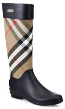 Burberry Clemence Check Canvas Rain Boots