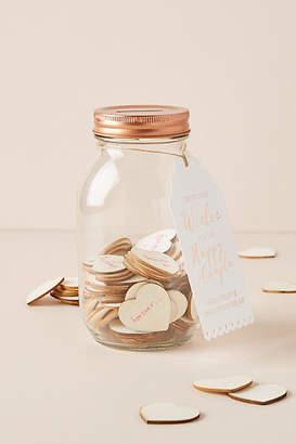Anthropologie Wishing Jar Wedding Guest Book