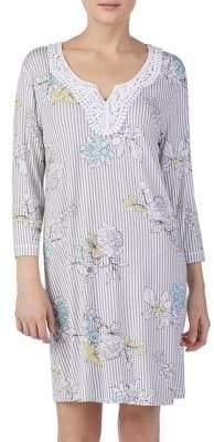 Ellen Tracy Floral Pajama Tunic