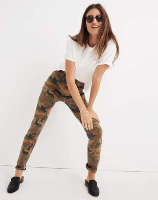 Madewell The High-Rise Slim Boyjean in Cottontail Camo