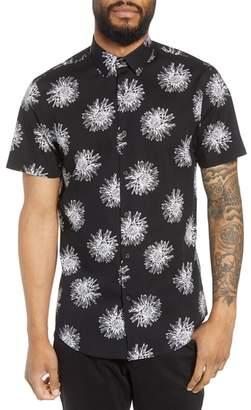 Calibrate Trim Fit Floral Short Sleeve Sport Shirt