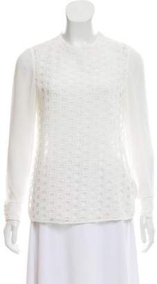 Ted Baker Chiffon Long Sleeve Top