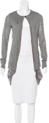 Vera Wang Wool Long Sleeve Cardigan $85 thestylecure.com