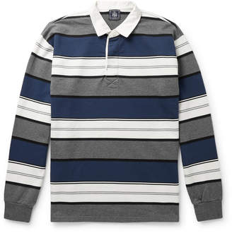 J.Press Striped Cotton-Jersey Polo Shirt