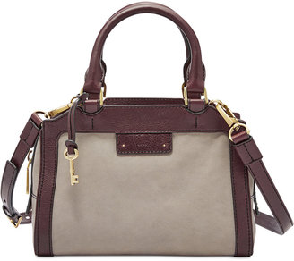 Fossil Logan Small Leather Satchel $228 thestylecure.com