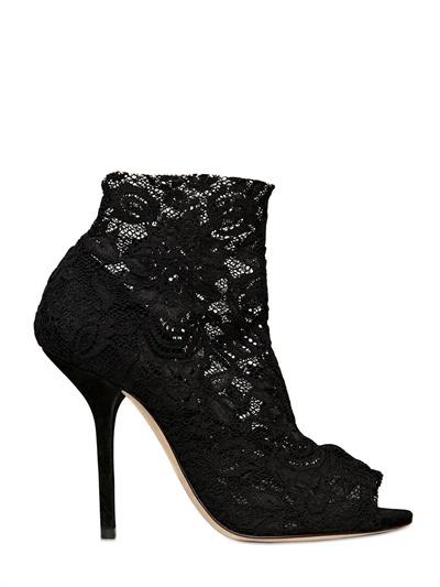Dolce & Gabbana 105mm Stretch Lace Open Toe