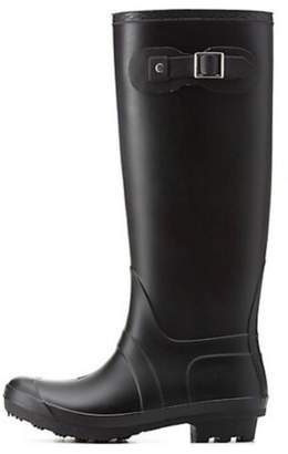 Bamboo Rubber Rain Boots $64 thestylecure.com