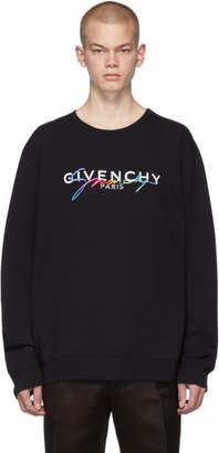 Givenchy Black Signature Logo Sweatshirt