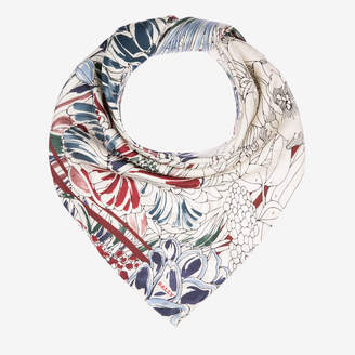 Bally Painted Flowers Print Scarf