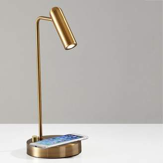 west elm Linear Metal LED Charging Table Lamp + USB - Brass
