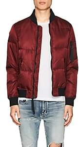 The Very Warm THE VERY WARM MEN'S QUILTED TECH-TWILL BOMBER JACKET-WINE SIZE XXL