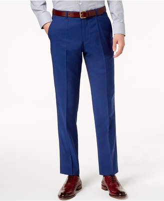 HUGO BOSS HUGO Men's Modern-Fit Bright Blue Solid Suit Pants