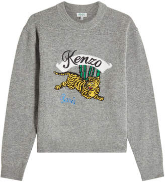 Kenzo Embroidered Wool Pullover