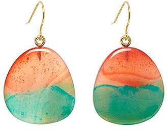 Lola Rose Women Multicolour Coral Agate Dangle and Drop Earrings 702218
