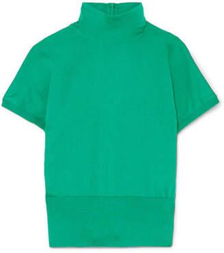 Dolce & Gabbana Silk Turtleneck Sweater - Green
