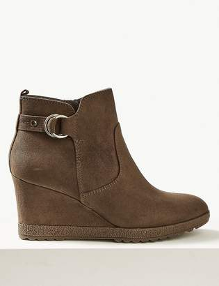 Marks and Spencer Wedge Heel Ankle Boots