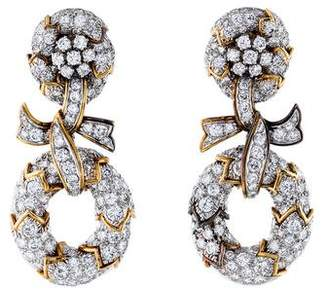 David Webb Diamond Clip-On Earrings