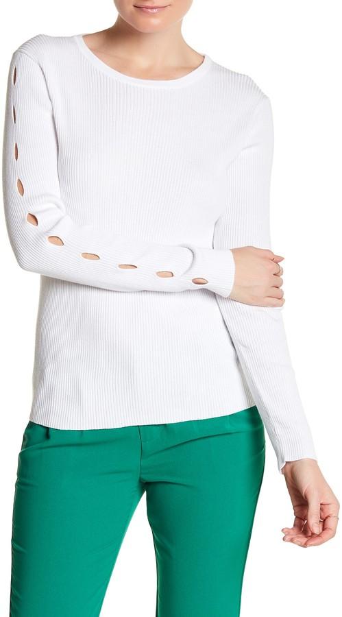 Cullen Rib Crew Cutout Sleeve Sweater 5
