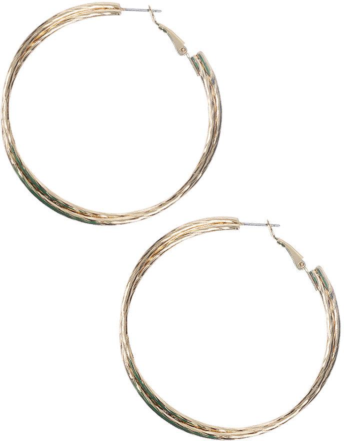Double Hoop Texture Earrings